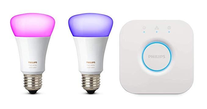 Philips Hue: Pack de 2 bombillas + puente de conexión | Luladu