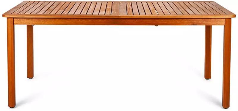 Mesa de jardín de madera grande | Luladu
